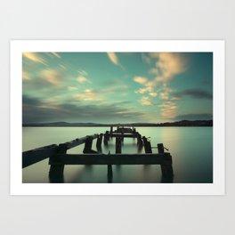 Fahan Pier at Sunrise Art Print