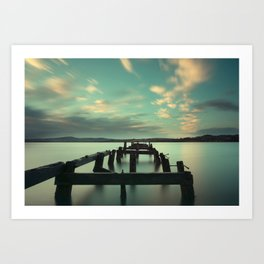 Fahan Pier at Sunrise Art Print