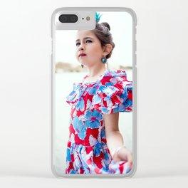 Carlita Sevillana Clear iPhone Case