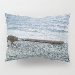 Pup on a beach Pillow Sham