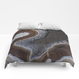 Agate crystal texture Comforters