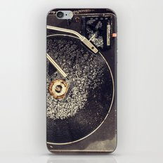 Record Player in Snow iPhone & iPod Skin