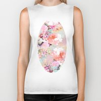 space Biker Tanks featuring Love of a Flower by Girly Trend