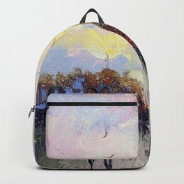Romantic walk in Paris Backpack