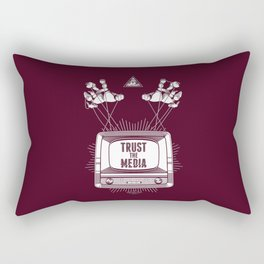 Trust The Media Rectangular Pillow