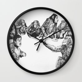 Apes Have Mid Life Crises Too Wall Clock