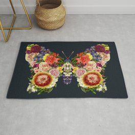 Spring Butterfly Floral Rug