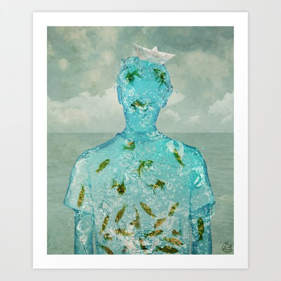 water boy Art Print