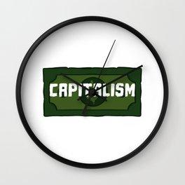 Enjoy Capitalism Entrepreneur Cash Dividend Trader Wall Clock