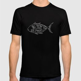 Tuna Butcher Diagram (Seafood Meat Chart) T-shirt