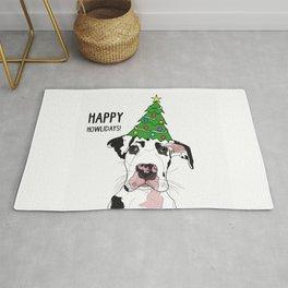 Happy Howlidays Great Dane Dog Rug