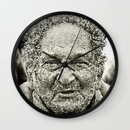 Portrait of a old man in the street Wall Clock