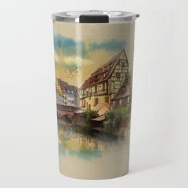panorama city of Colmar France Travel Mug