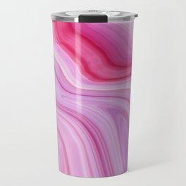 Purple Watercolor Marble Travel Mug