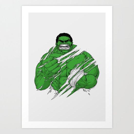 You Won't Like Me When I'm Angry! Art Print
