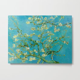 Almond Blossoms Painting by Vincent van Gogh Oil Painting Metal Print