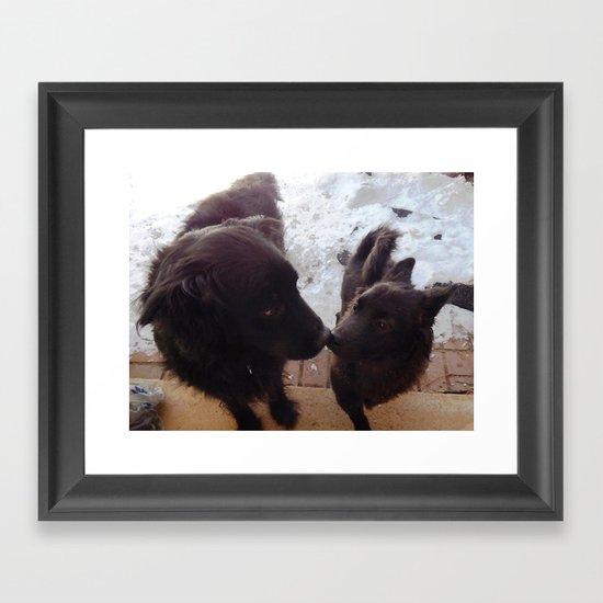 Love you, man! Framed Art Print