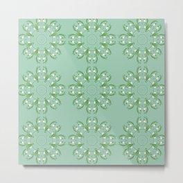 Snowdrops ornament Metal Print