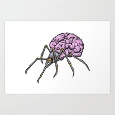 brain spider Art Print