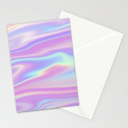 Holographic Abstract  Stationery Cards