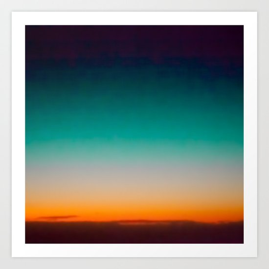 Blue and Yellow Magic Dawn in the Sky Art Print