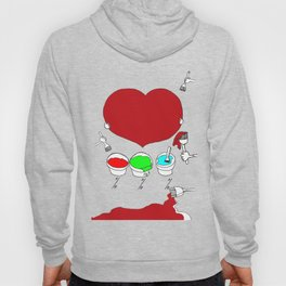Figure out the color of my heart - RGB mode Hoody
