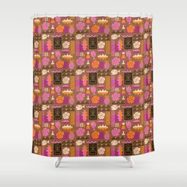 Freaky Tiki Shower Curtain