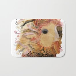 created with subconscious thought Bath Mat