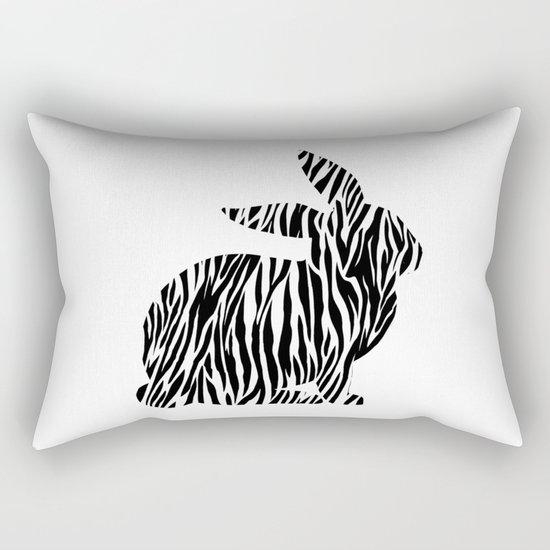 Rabbit with zebra print Rectangular Pillow
