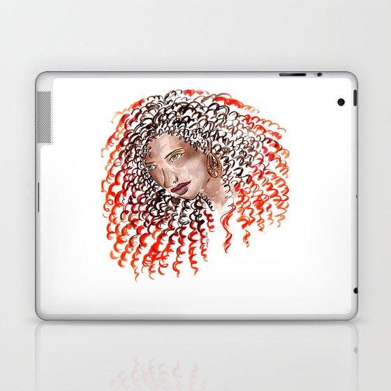 Fiery Curls Laptop & iPad Skin