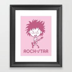 Rock Star Framed Art Print