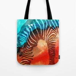 Zebra Love - Art By Sharon Cummings Tote Bag