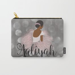 African American Ballerina Dancer Personalized Name AALIYAH Carry-All Pouch