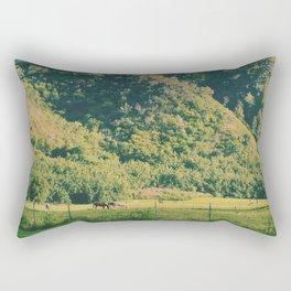 Field Of Horses Rectangular Pillow