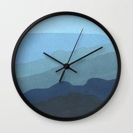 Landscape Blue Wall Clock