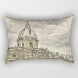 Rome Downtown Architecture Urban Scene Rectangular Pillow