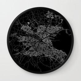 Dublin map Wall Clock