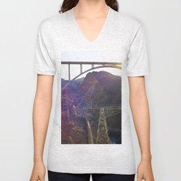 Hoover Dam Electicity Towers Unisex V-Neck