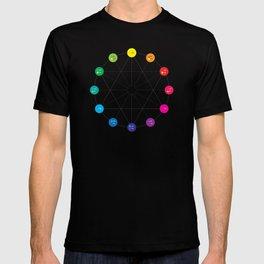 Simple Color Wheel T-shirt