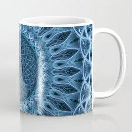 Cold blue mandala Coffee Mug