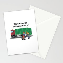 Papa Is My Hero Garbage Truck Driver Stationery Cards