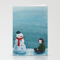 snowman Stationery Cards featuring Snowman by Tona