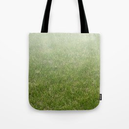 Light-to-Dark Green Ombre Gradient Grass Tote Bag