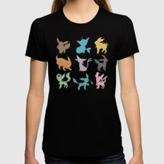 Eeveelution MEDIUM Womens Fitted Tee Black