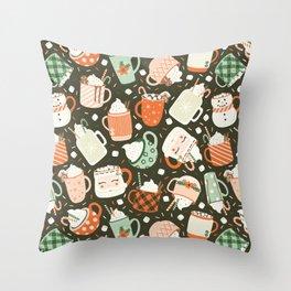 Christmas Cocoa Throw Pillow