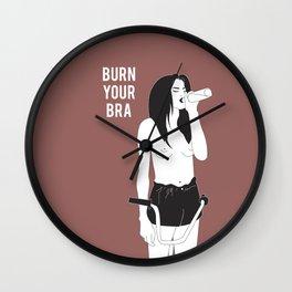 BURN YOUR BRA Wall Clock