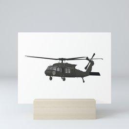 UH-60 Military Helicopter Mini Art Print