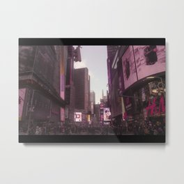 Time Square in the Pink Metal Print