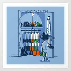 The Morning Routine Art Print
