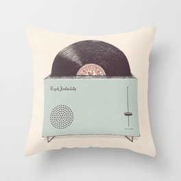 High Fidelity Toaster Throw Pillow